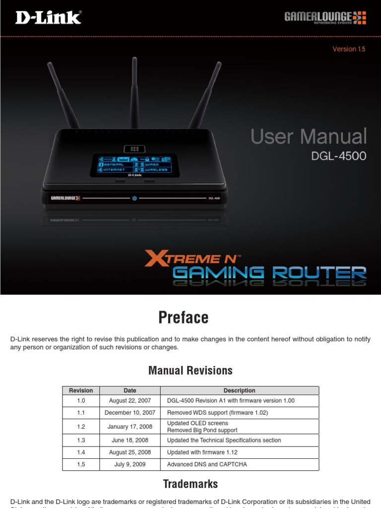 Dgl-4500 | dlink products configuration and installation on d-link.