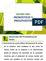 Lección 6 Pronosticos y Presupuestos