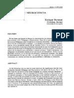 Pedagogía y Neurociencia