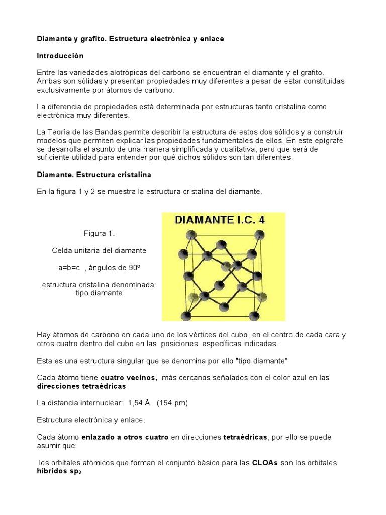 Diamante Y Grafito Grafito Enlace Químico