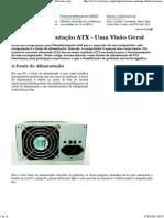 Fonte de Alimentação ATX - Uma Visão Geral — Eletronica