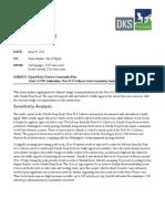 Scholls Ferry Sensitivity Analysis