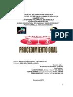 Procedimiento Oral en Venezuela Trabajo No 4