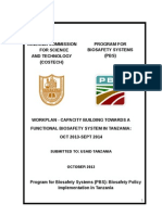 Pbs Tanzania Revised Workplan Oct 2013-Sept 2014 Internal Work Plan