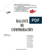 Balance de Comprobacion Trabajo