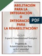 Programa de Rehabilitación con Base en la Comunidad - Informe completo - Mayo 2014