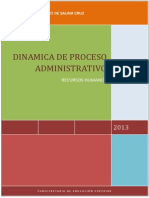 Dinamica de Proceso Administrativo
