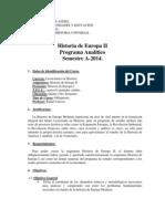Programa Analítico Historia de Europa II