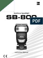 NIKON SB-800 AF Speed Light Manual