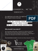 coexist virtue fg event poster
