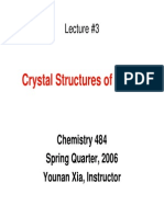 Notes Slides 3 Crystal Structures of Metals CHEM484Aspr06