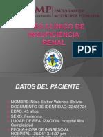 Caso Clinico de Insuficiencia Renal