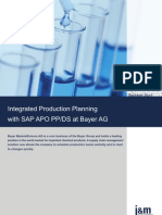 Integrated Production Planning With SAP APO PP-DS at Bayer AG