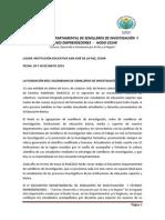 Convocatoria Xi Encuentro Departamental