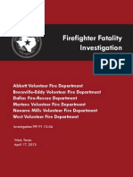 Firefighter Fatality Investigation