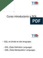 Curso Introductorio a SQL