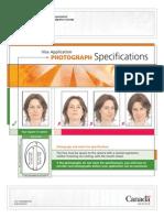 Photospecs for Canadian visa