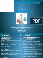 Tax Assessment - Taxpayer's Remedies