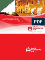 Memoria Caja Ica.2010