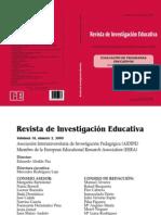 Revista de Investigacion Educativa. Perez Juste