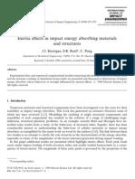 Effect of Inertia on Energy Absorption