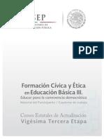Formación Cívica y Ética en Educación básica IIIcurso