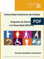 Programa ADIUAS 2013