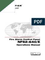 Fire Alarm Control Panel NFS2-640/#