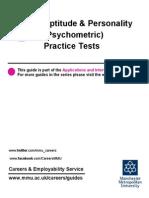 Aptitude Personality Practice Tests