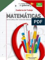 Cuaderno de Trabajo de Matematicas 4o,5o y 6o
