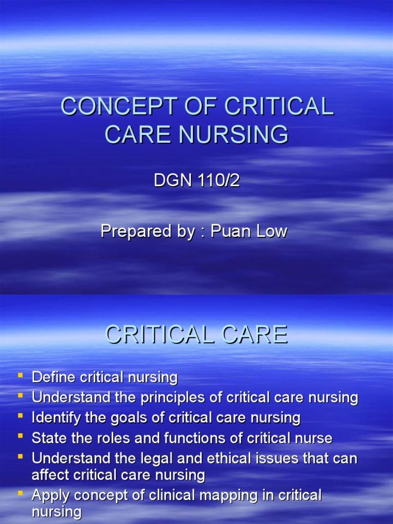 Critical Care Nursing   Intensive Care Medicine   Intensive