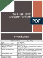 believe presentation