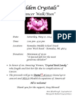 Walk for Cancer at Romulus High School 5-17-14