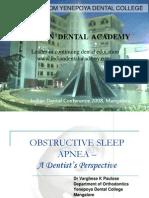 Obstructive Sleep Disorder Ida 2008 / orthodontic courses by Indian dental academy
