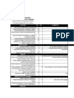 Physical Environment - elderly check list