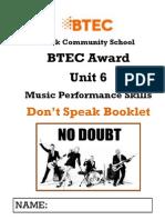 Don't Speak Resource