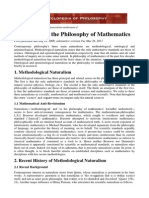 Naturalism in the Philosophy of Mathematics