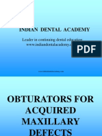 Obturator / orthodontic courses by Indian dental academy