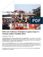 Wild and Vodickova Triumph in Laguna Lang Co – Vietnam Airlines Triathlon 2014
