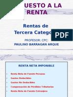 RENTAS TERCERA CATEGORIA 2009