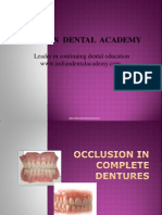Occlusion in CD / orthodontic courses by Indian dental academy