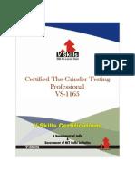 Grinder Testing Certification
