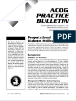 60-2005- Pregestational Diabetes Mellitus