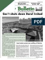 Friday Bulletin 16th May 2014