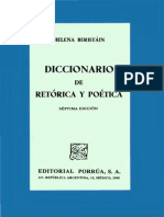 Beristain h 1995 Diccionario de Retorica y Poetica