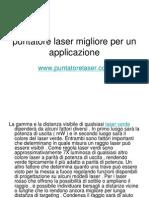 Puntatore Laser Migliore Per Un Applicazione