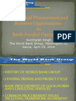 Power Point Presentations on WB Procurement