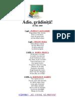 Adio, Gradinita - Iunie 2009