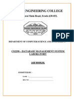 Manual for DBMS LAB