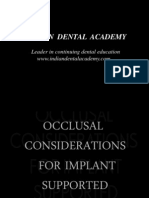 Occulasl Consideration for Implant Supported Prostehsi / orthodontic courses by Indian dental academy